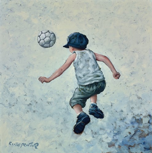 The Beautiful Game IV by Keith Proctor - Original Painting on Stretched Canvas
